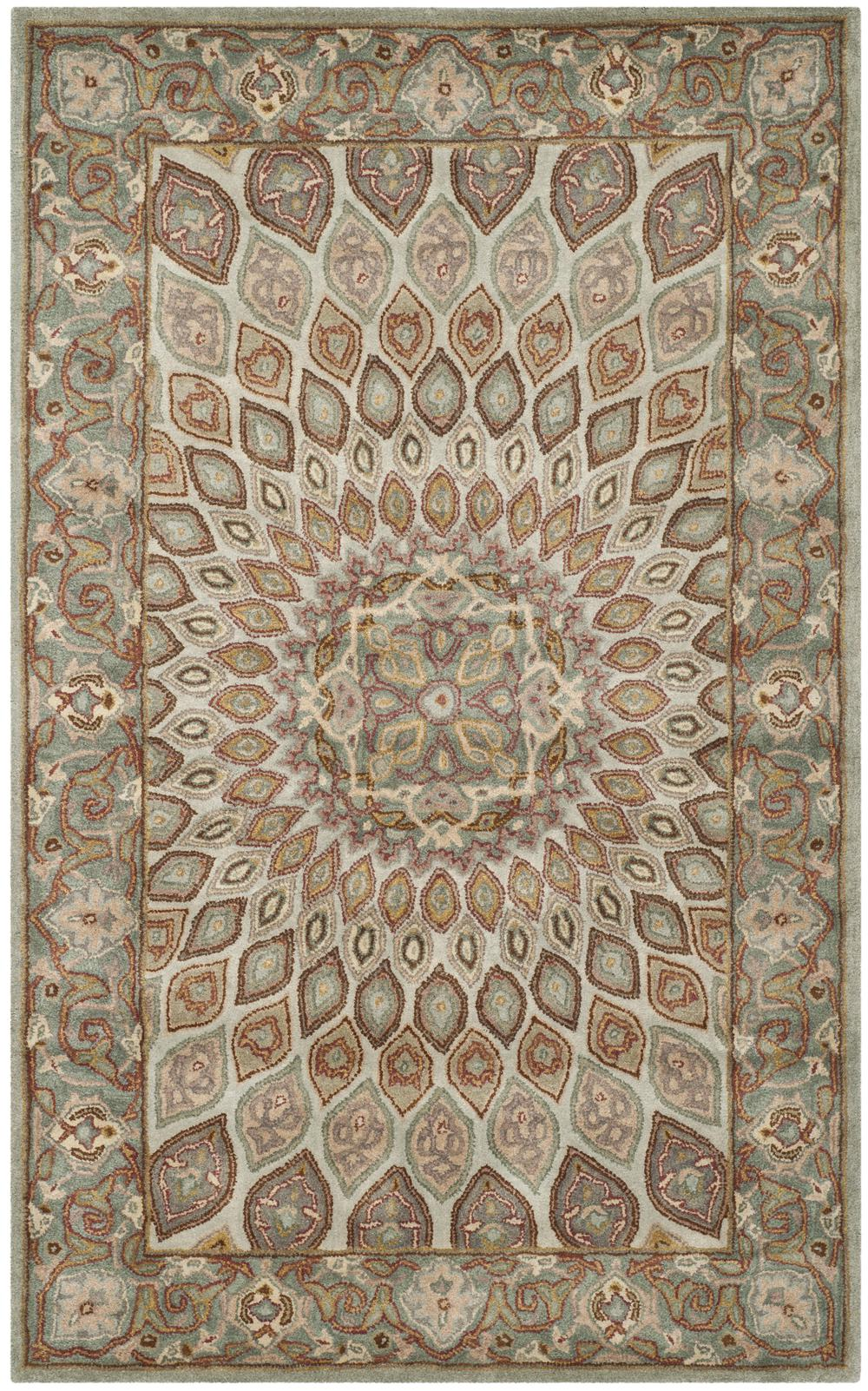 Safavieh Heritage Hg914b Blue And Grey Area Rug Free
