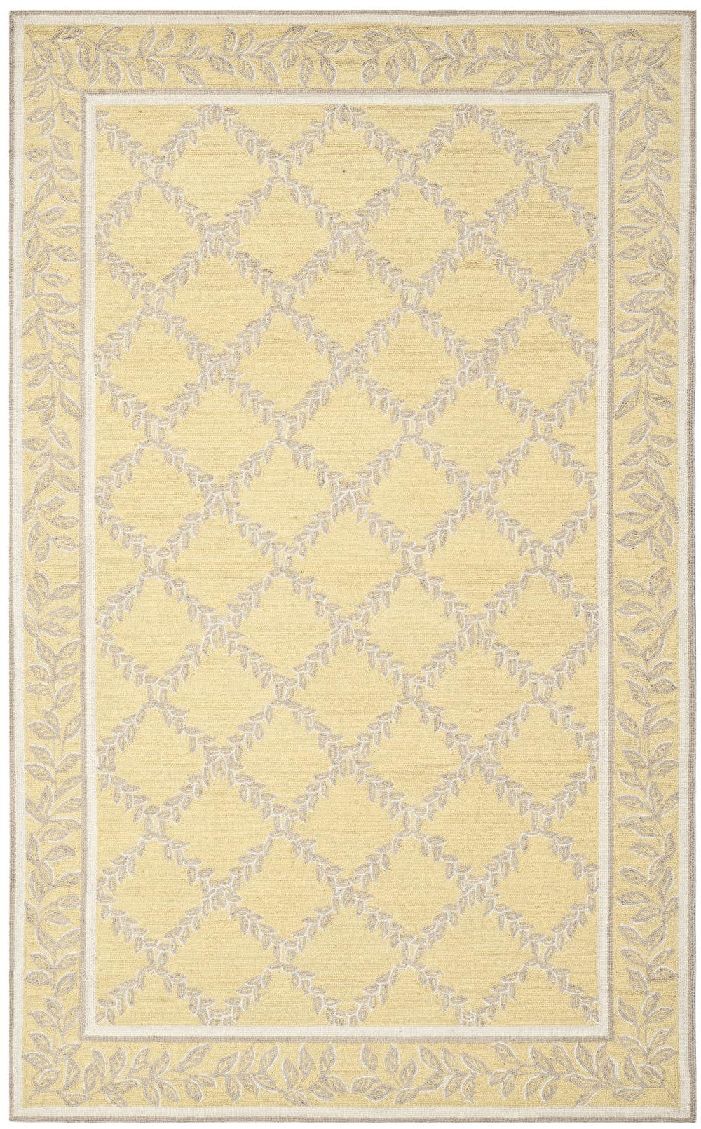 Safavieh Chelsea Hk230y Yellow And Grey Area Rug Free