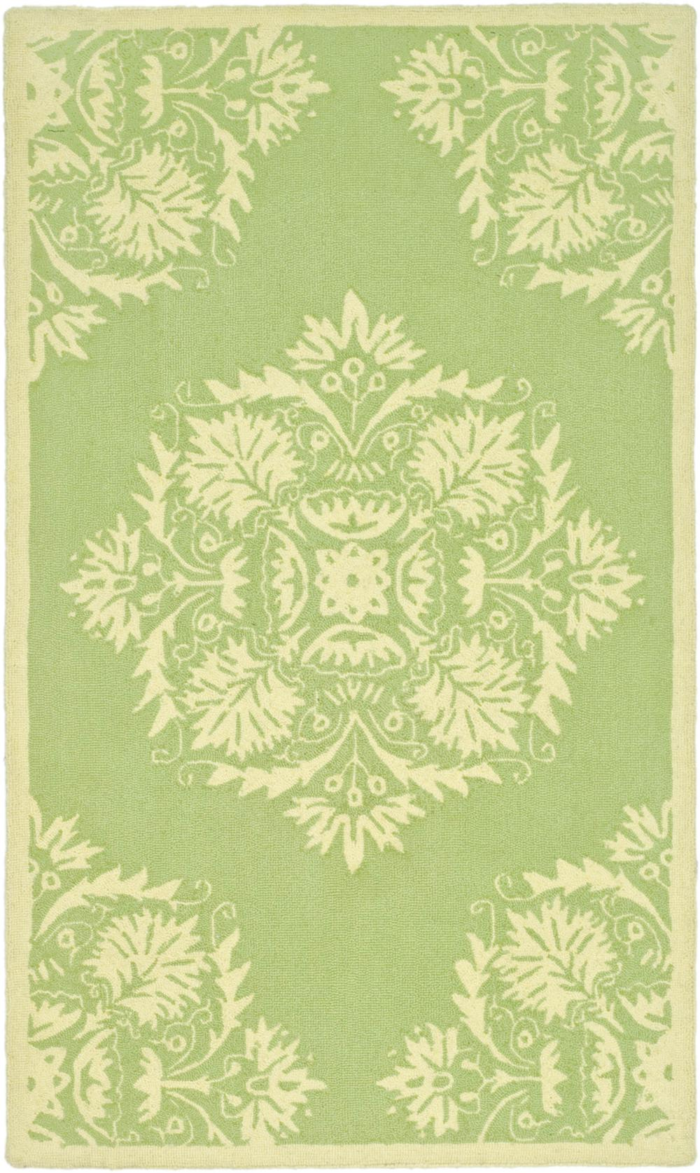 Safavieh Chelsea Hk359b Green And Beige Area Rug Free