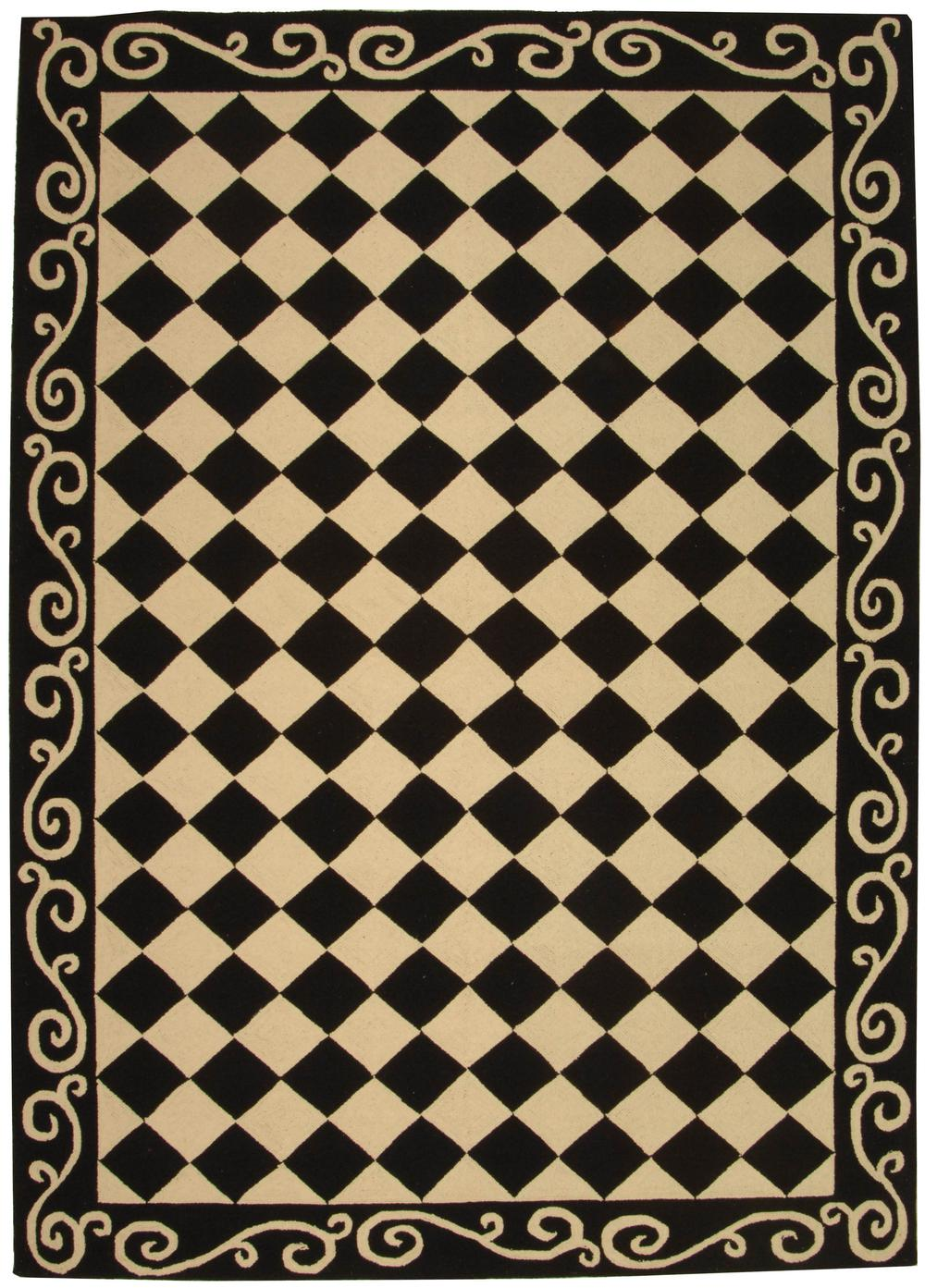 Safavieh Chelsea Hk711a Black And Ivory Area Rug Free