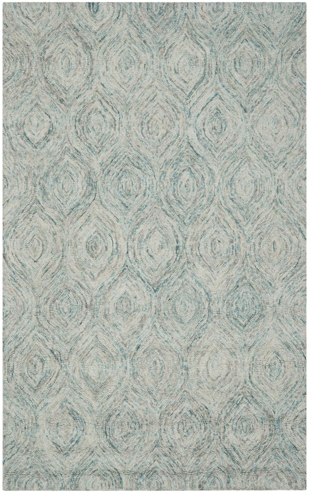safavieh ikat ikta ivory and sea blue area rug  free shipping - hover to zoom