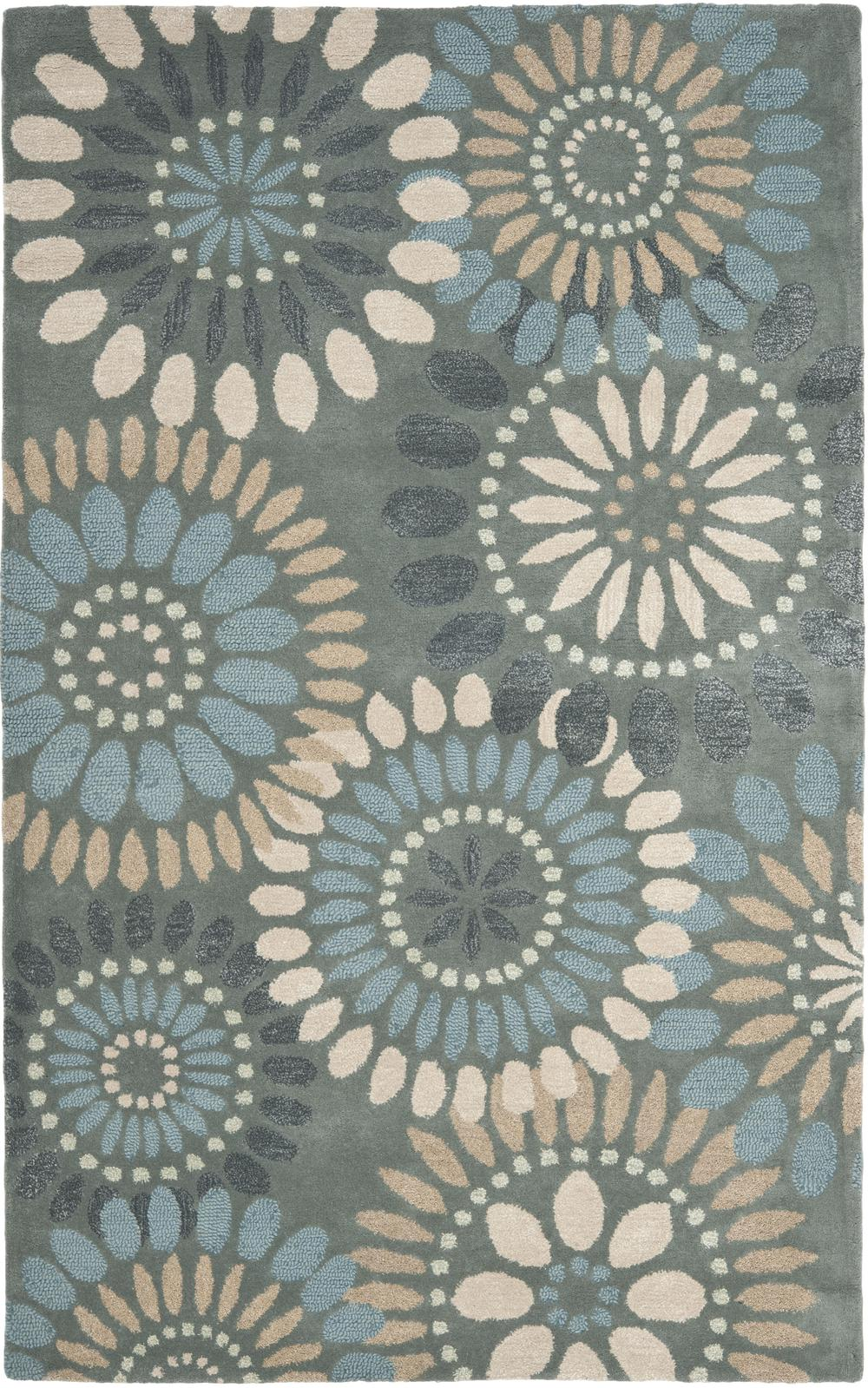 Safavieh Jardin Jar455a Grey And Blue Area Rug Free Shipping
