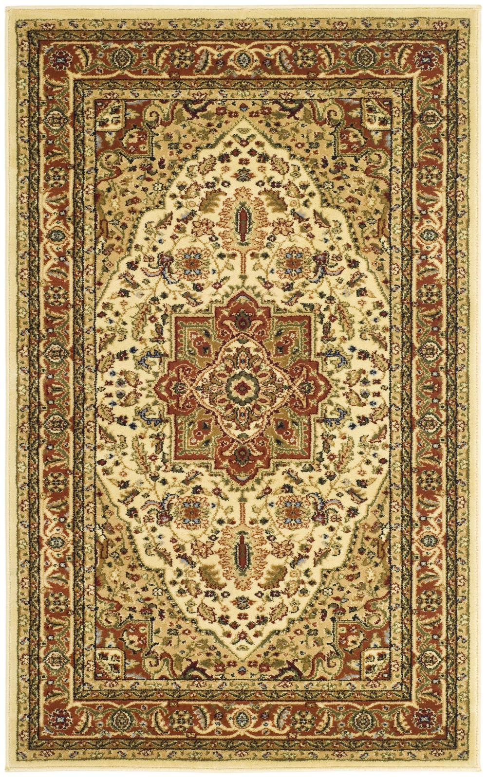 Safavieh Lyndhurst Lnh330r Ivory And Rust Area Rug Free
