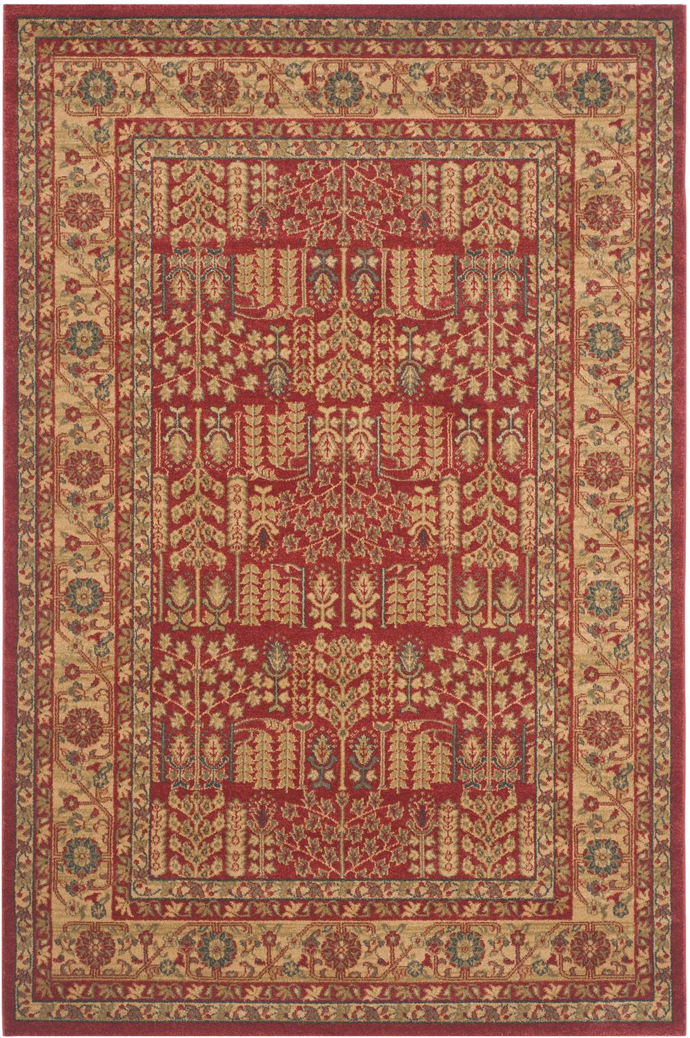 Safavieh Mahal Mah697a Red And Natural Area Rug Bold Rugs