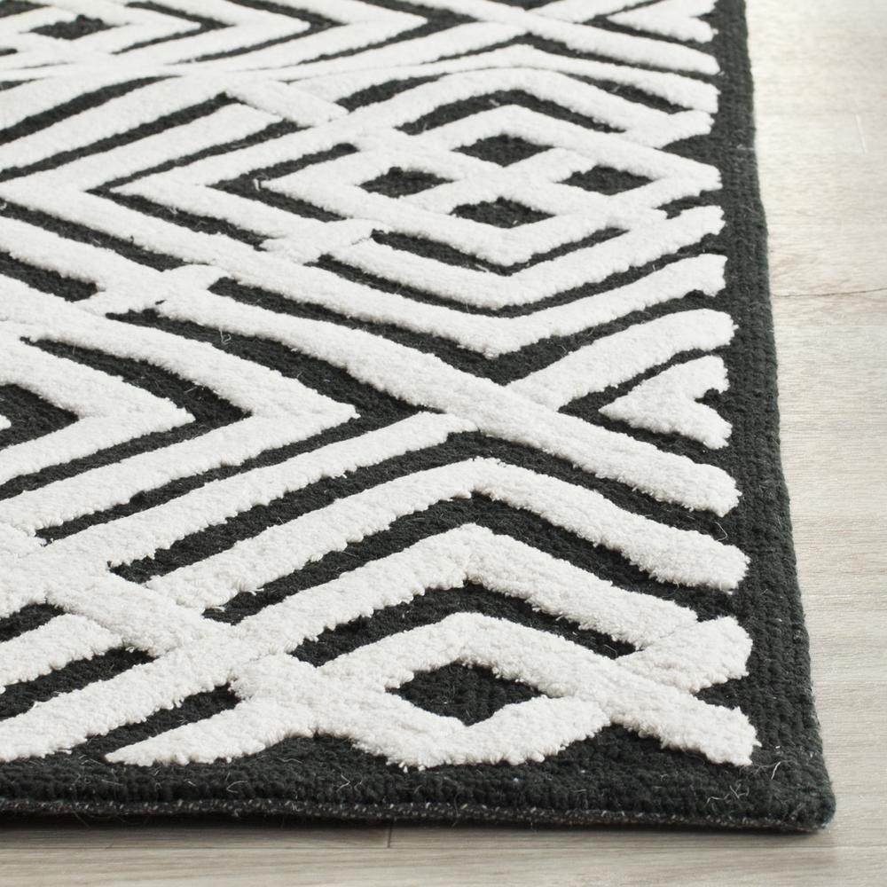 Safavieh newport npt436b black and white area rug bold rugs - Black and white rug ...