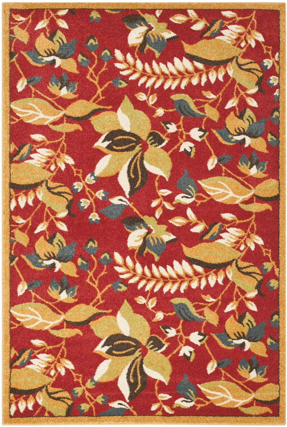 Safavieh Newbury Nwb8705 4020 Red And Gold Area Rug Free