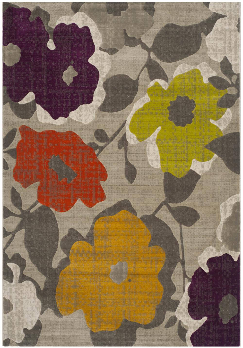 Safavieh Porcello Prl7726c Grey And Yellow Area Rug Free