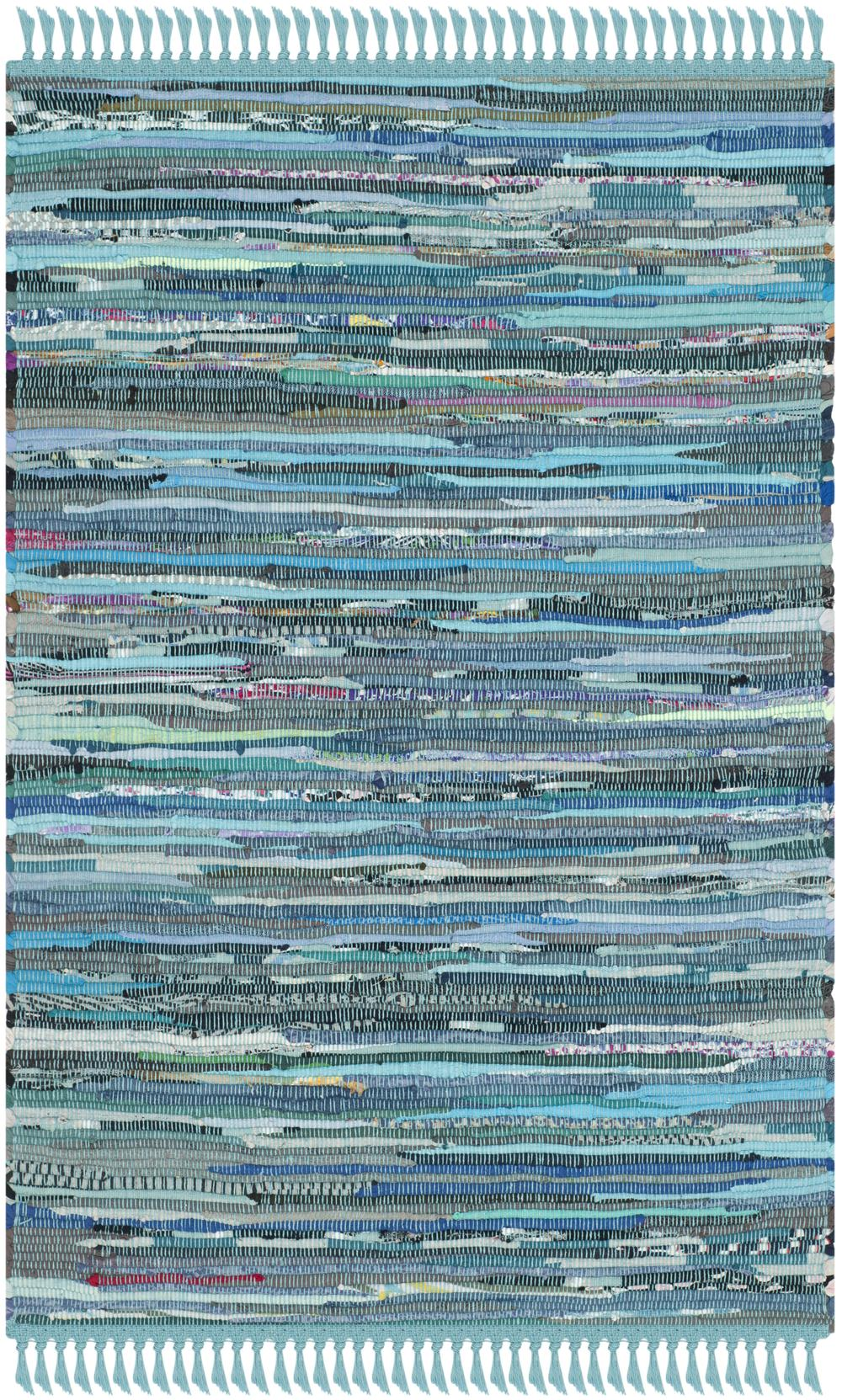 Safavieh Rag Rug Rar121b Blue And Multi Area Rug Free