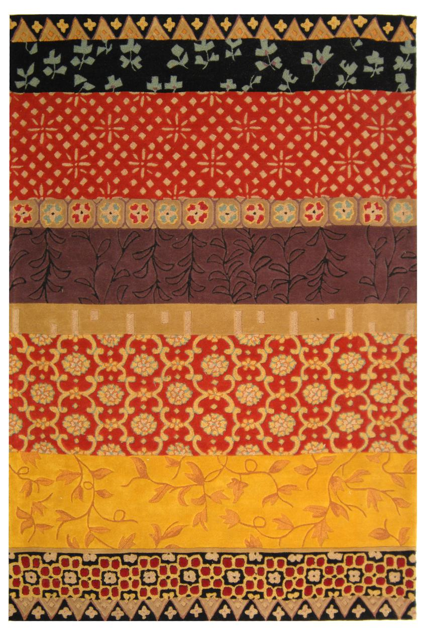 Safavieh Rodeo Drive Rd622k Rust And Gold Area Rug Free