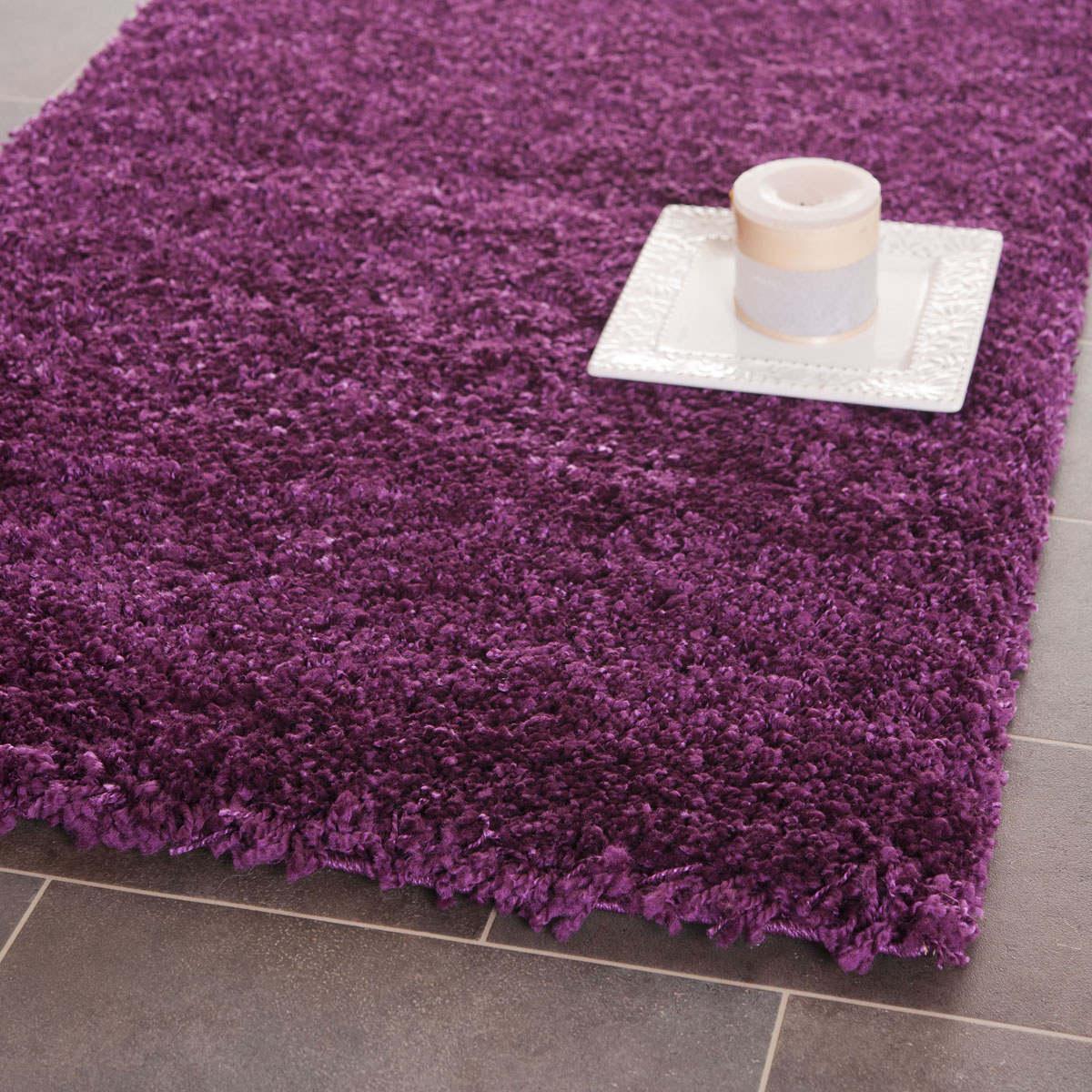 Safavieh California Shag Sg151 7373 Purple Area Rug Free