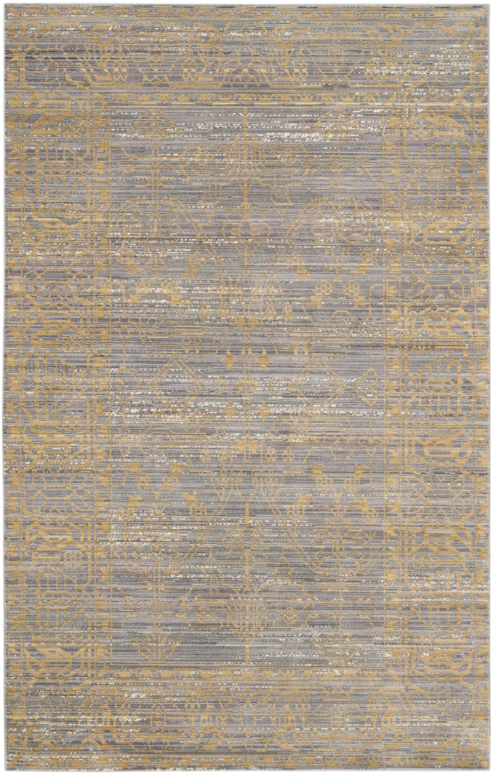 Grey And Gold Living Room Decor: Safavieh Valencia VAL104E Grey And Gold Area Rug