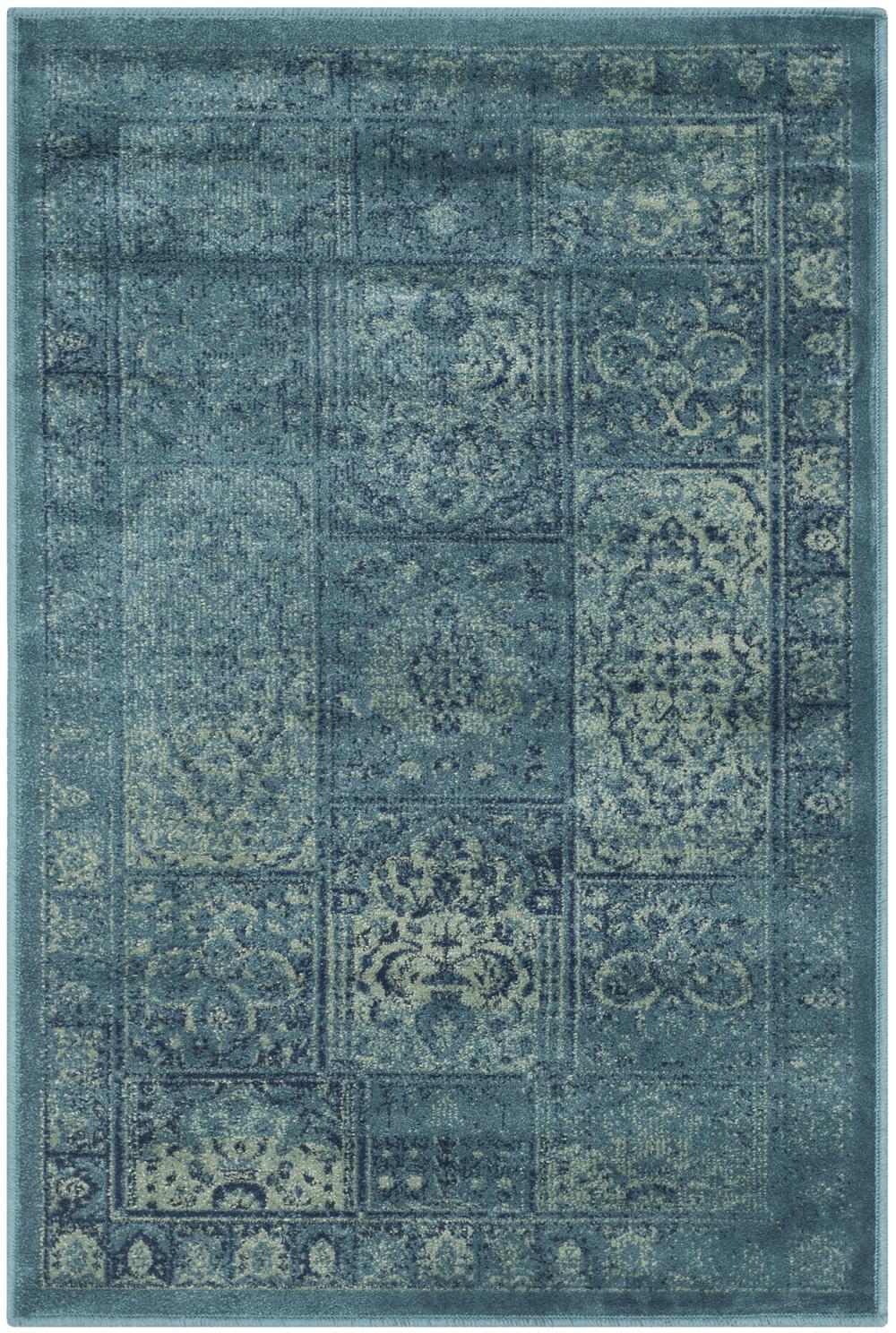Safavieh Vintage Vtg127 2220 Turquoise And Multi Area Rug