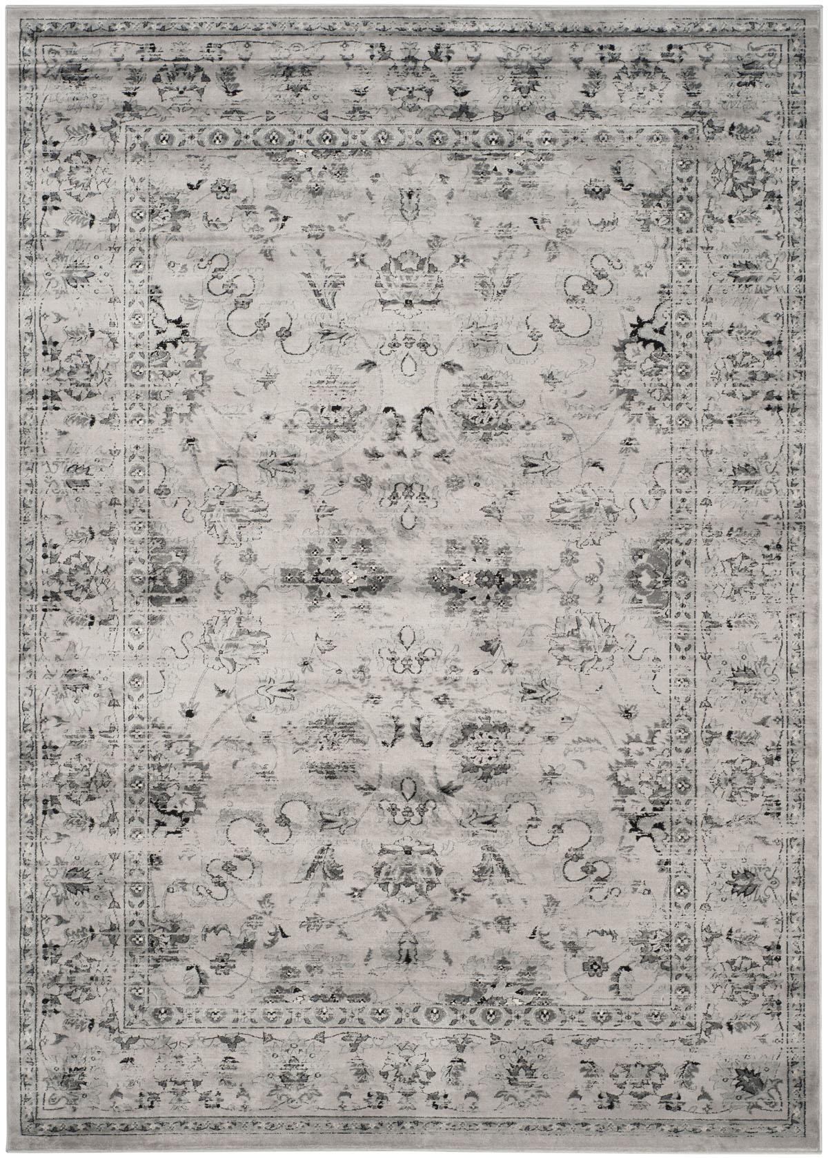 Safavieh Vintage Vtg430a Grey And Ivory Area Rug Free