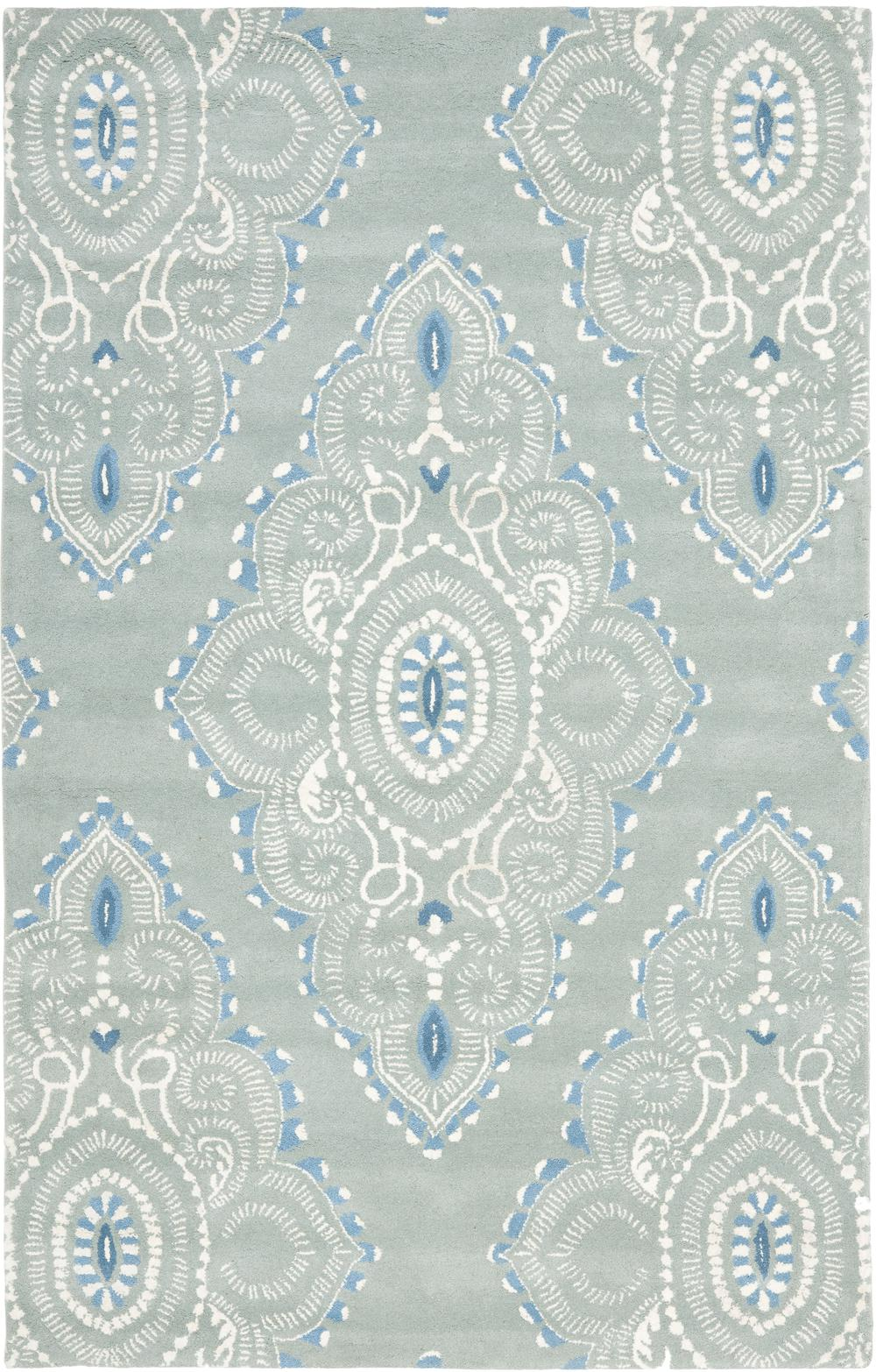 Safavieh Wyndham Wyd372a Blue And Ivory Area Rug Free
