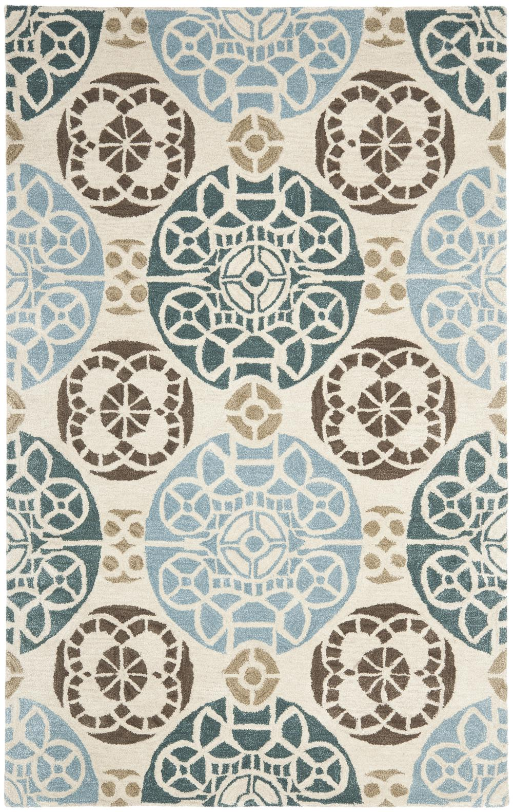 Blue And Beige Area Rug Home Decor