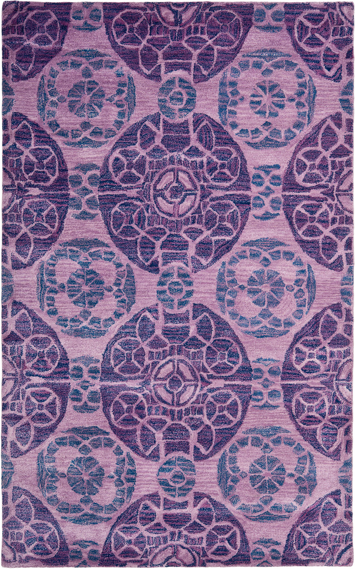 Safavieh wyndham wyd376j purple area rug free shipping for Rugs with purple accents