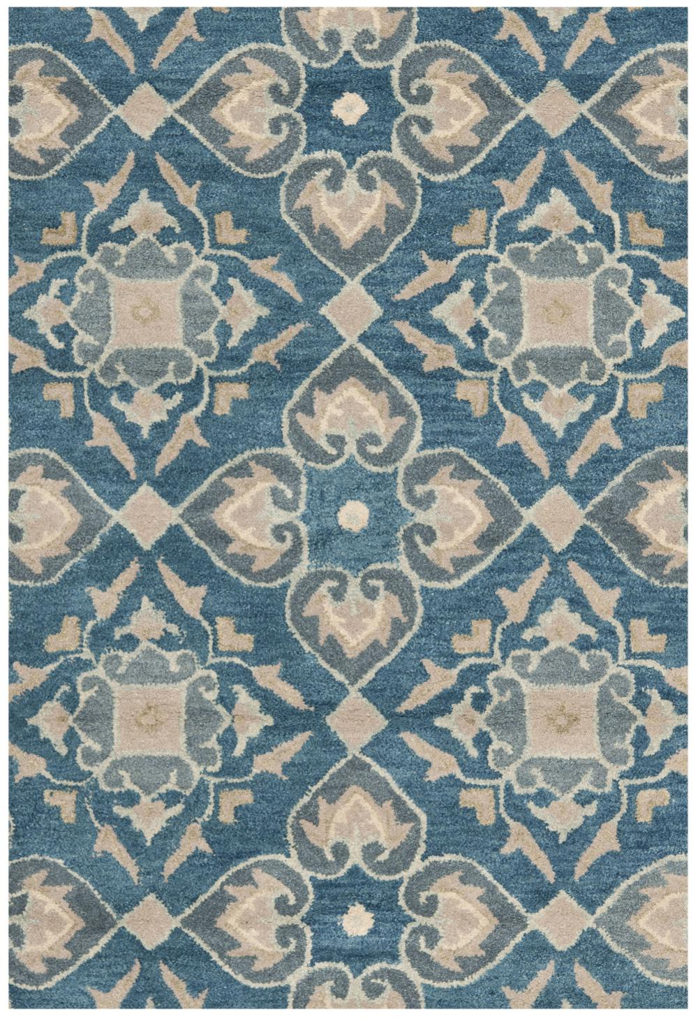 safavieh wyndham wyd614a blue and grey area rug free shipping. Black Bedroom Furniture Sets. Home Design Ideas