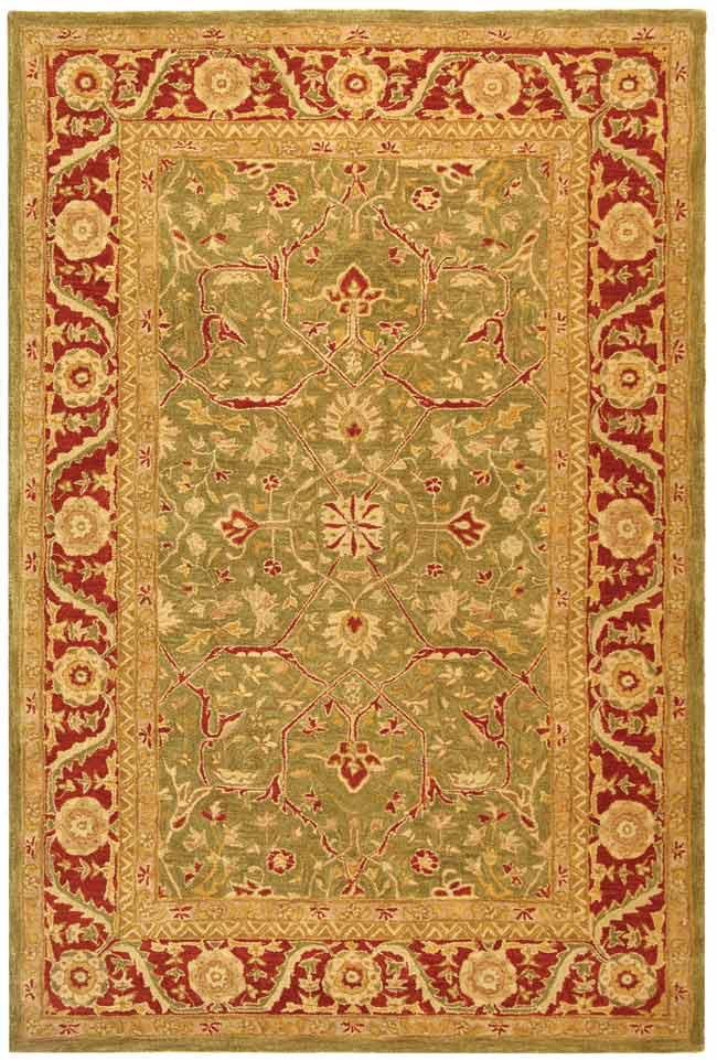 Safavieh Anatolia An523a Green And Red Area Rug Free