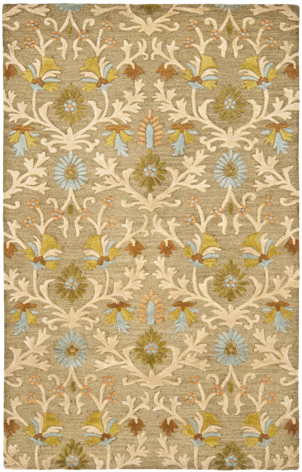 Safavieh Cambridge Cam235a Moss And Multi Area Rug Free