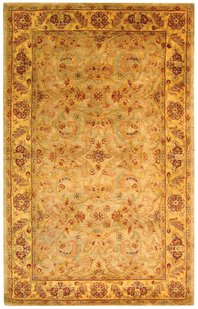 Hover to zoom - Safavieh Classic CL324A Light Green And Gold Area Rug Free Shipping