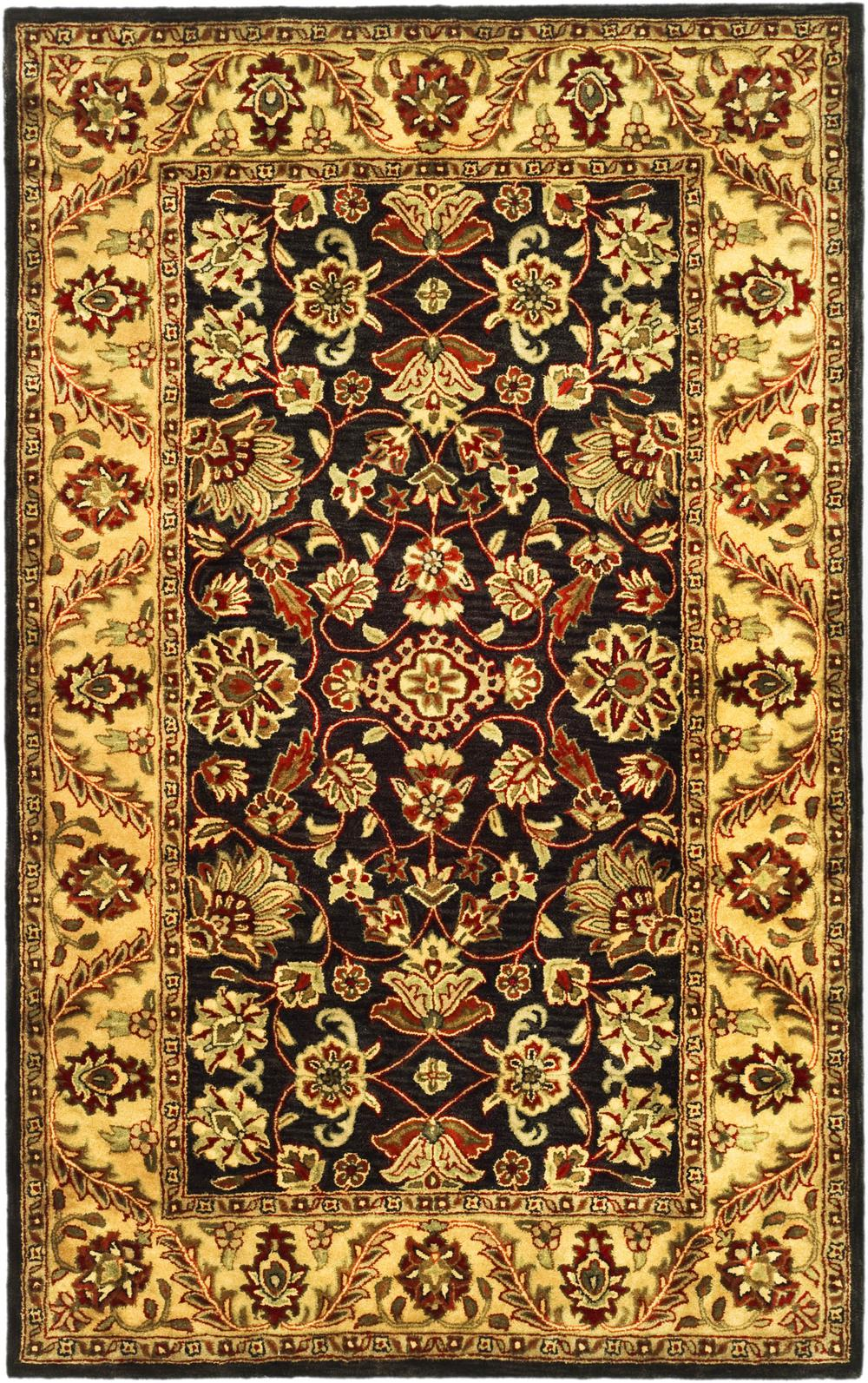 Safavieh Golden Jaipur Gj250d Black And Gold Area Rug