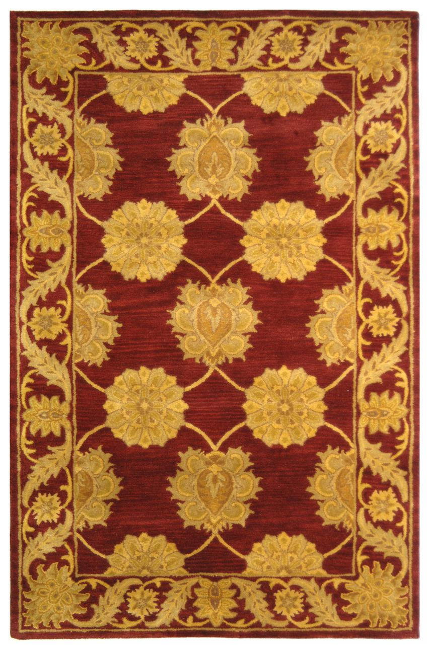 Safavieh Heritage Hg314b Maroon Area Rug Free Shipping