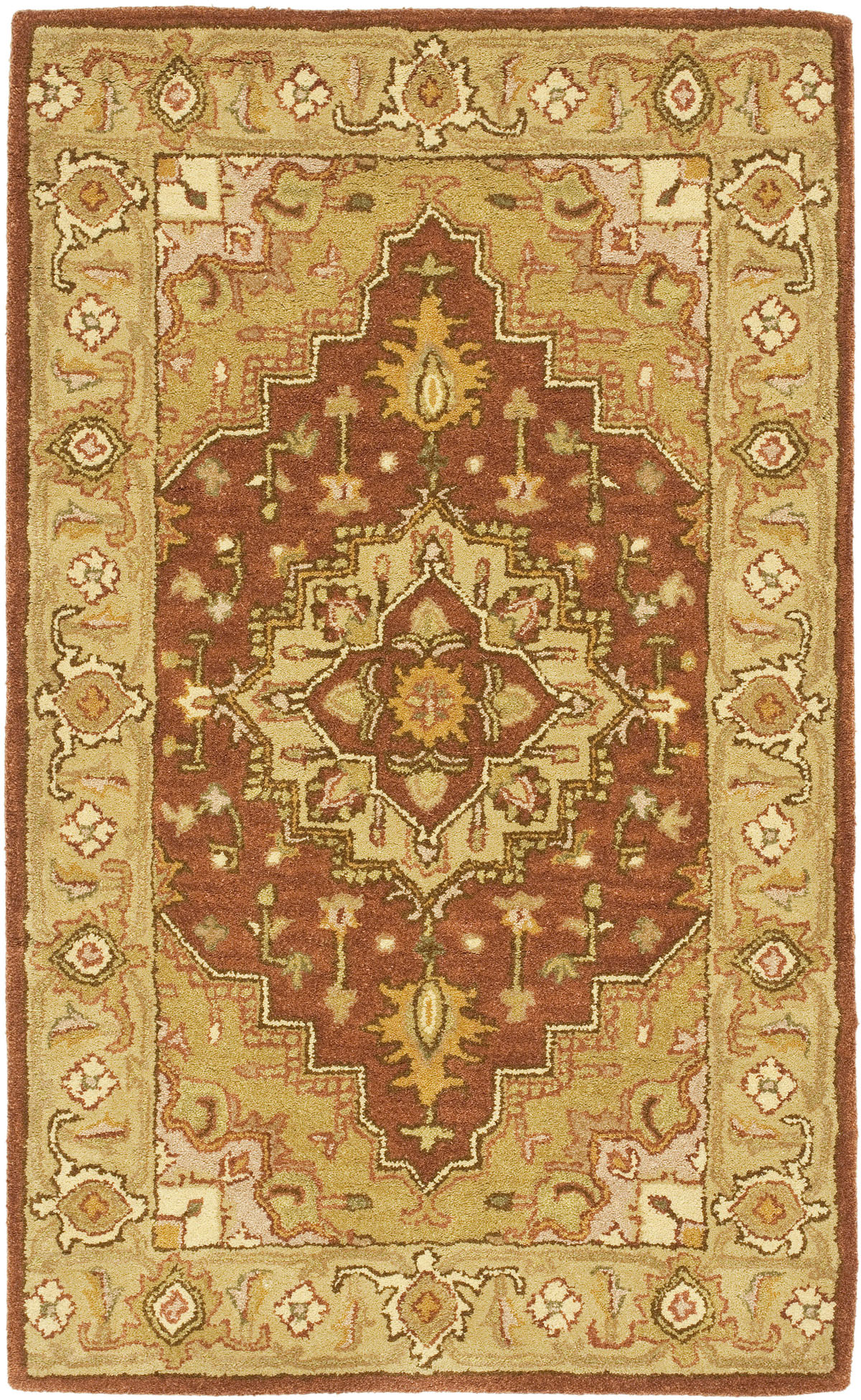 Safavieh Heritage Hg345a Rust And Gold Area Rug Free