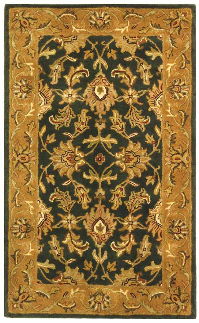 Safavieh Heritage Hg628a Dark Green And Gold Area Rug