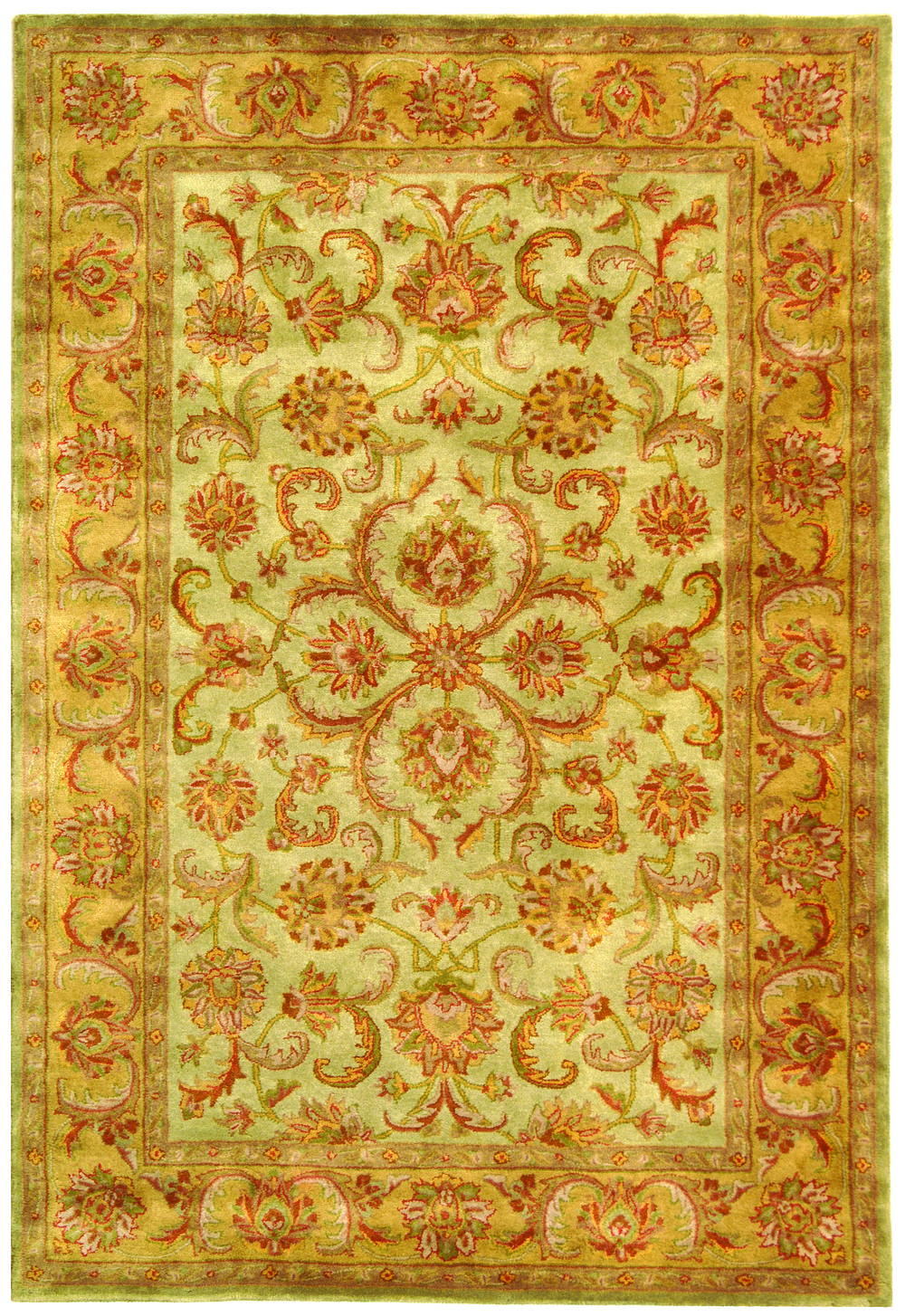 Safavieh Heritage Hg811a Green And Gold Area Rug Free