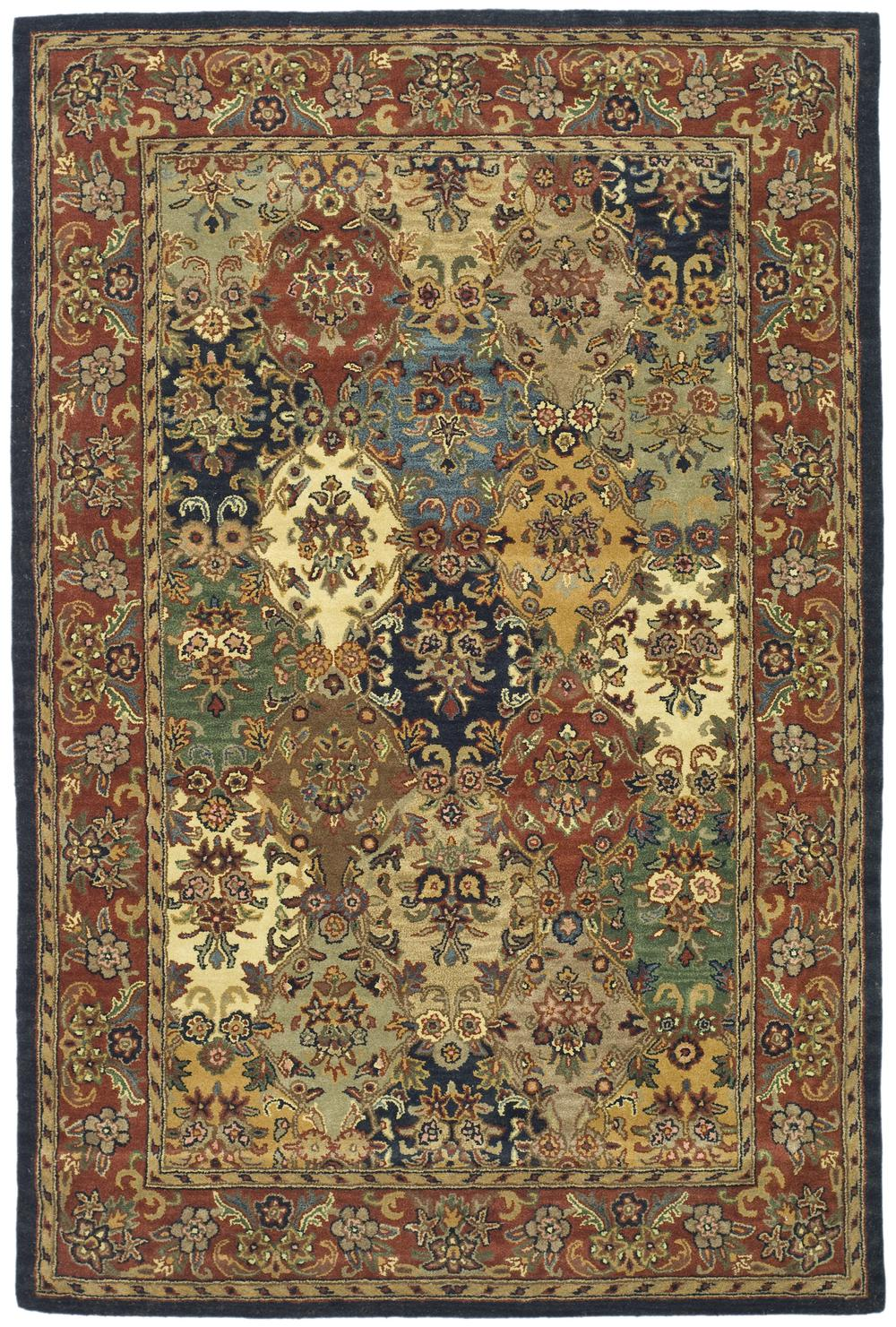 Safavieh Heritage Hg911a Multi And Burgundy Area Rug