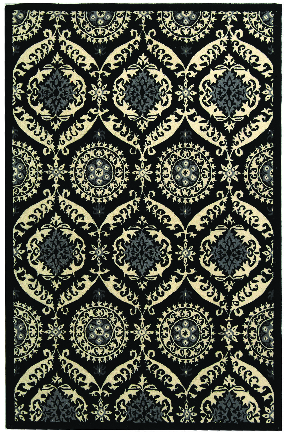Safavieh Chelsea Hk356a Black And Ivory Area Rug Free