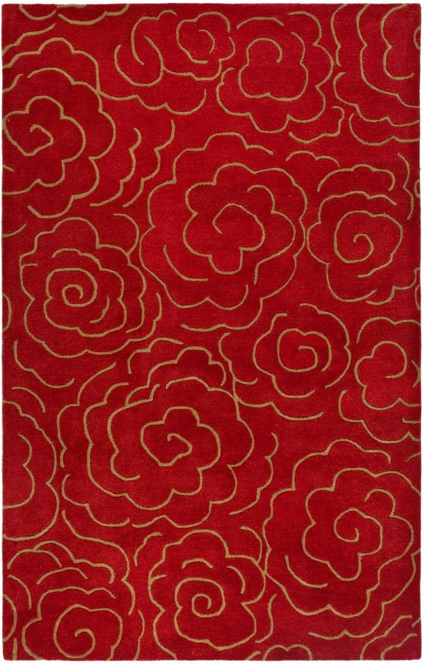 Safavieh soho soh812a red area rug free shipping for Red and gold area rugs