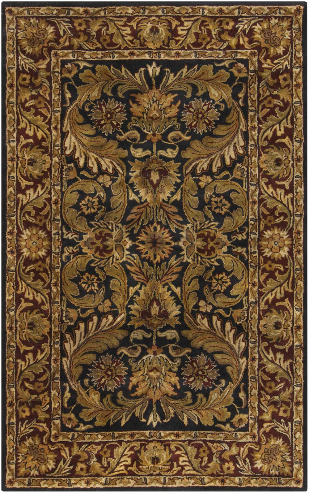 Surya Ancient Treasures A103 Blue Area Rug Free Shipping