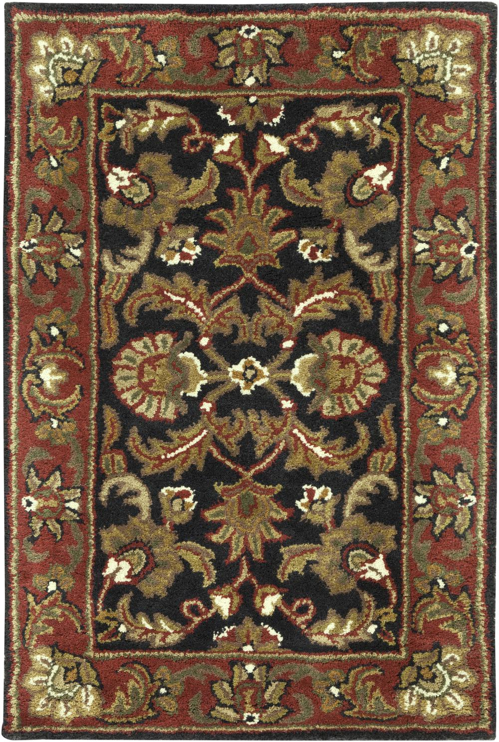 Surya Ancient Treasures A108 Black Area Rug Free Shipping