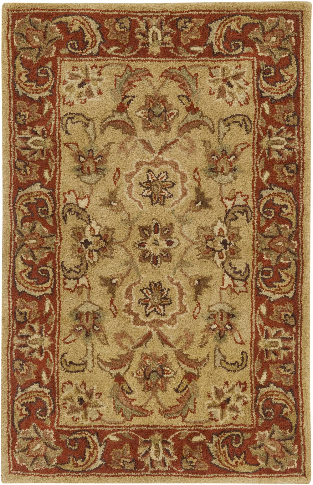 Surya Ancient Treasures A111 Green Area Rug Free Shipping