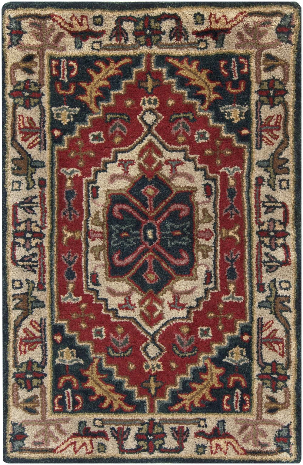 Surya Ancient Treasures A134 Red Area Rug Free Shipping