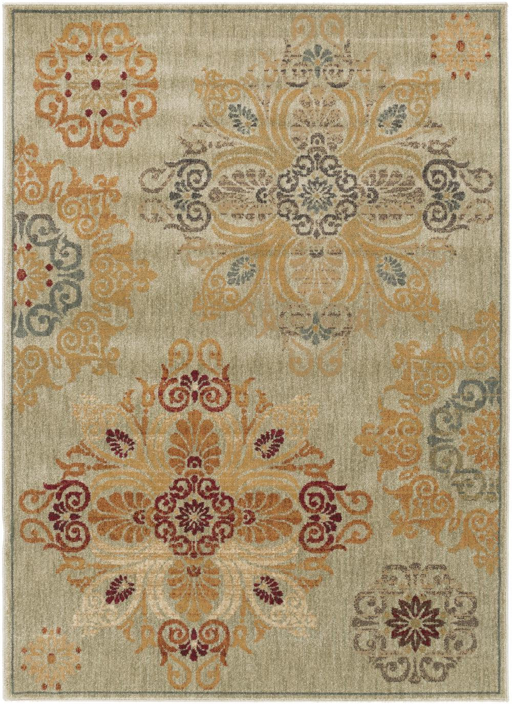 Surya Arabesque Abs3000 Grey Area Rug Free Shipping