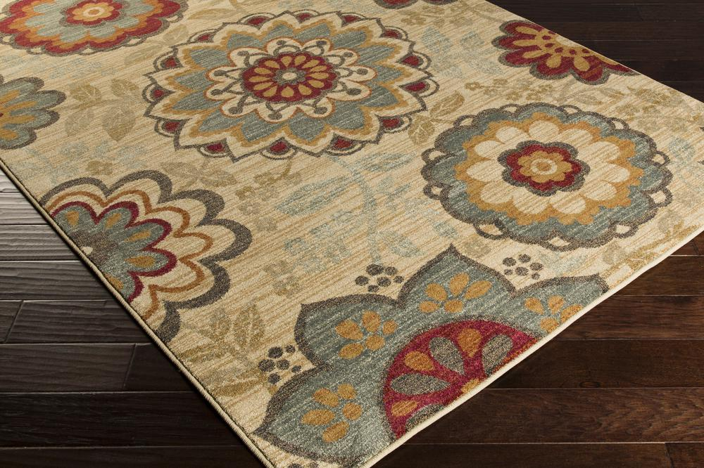 Surya Arabesque Abs3015 Green Area Rug Free Shipping