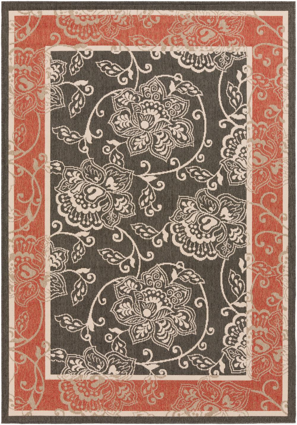 Surya Alfresco Alf9592 Black Area Rug Free Shipping