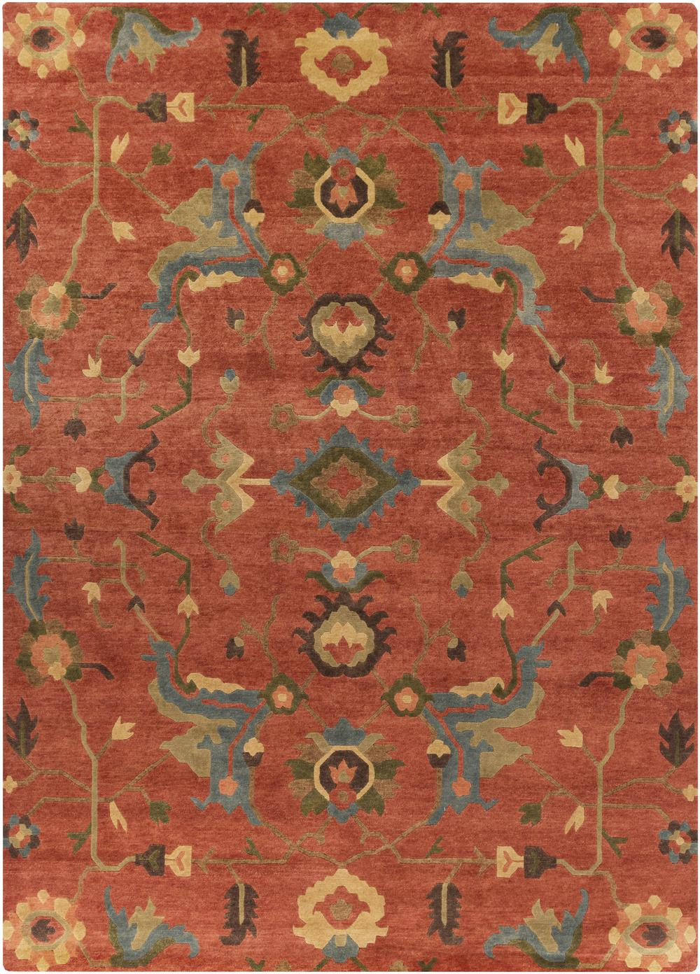 Surya Anastacia Ana8411 Orange Area Rug Free Shipping