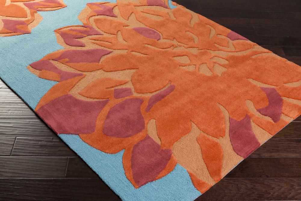 Surya Budding Bud2000 Orange Area Rug Free Shipping