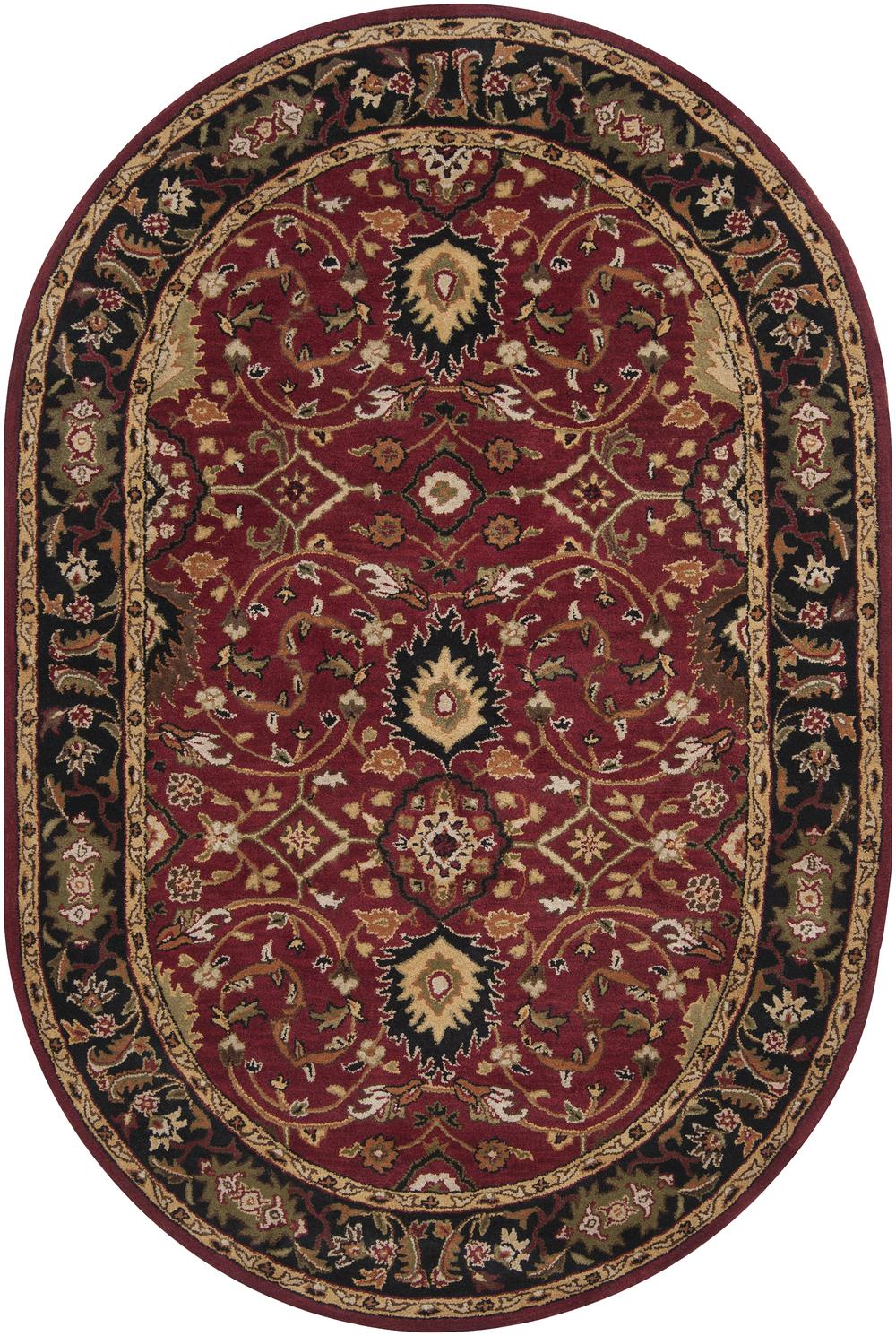 Surya Caesar Cae1031 Red Area Rug Free Shipping
