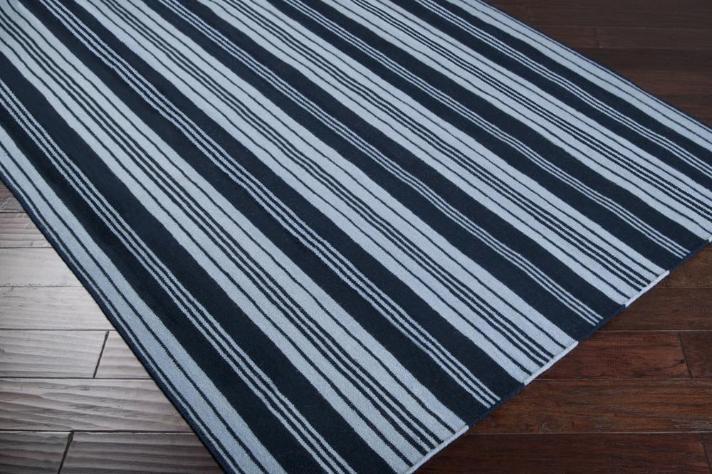 Surya Farmhouse Stripes Far7000 Blue Area Rug Free Shipping