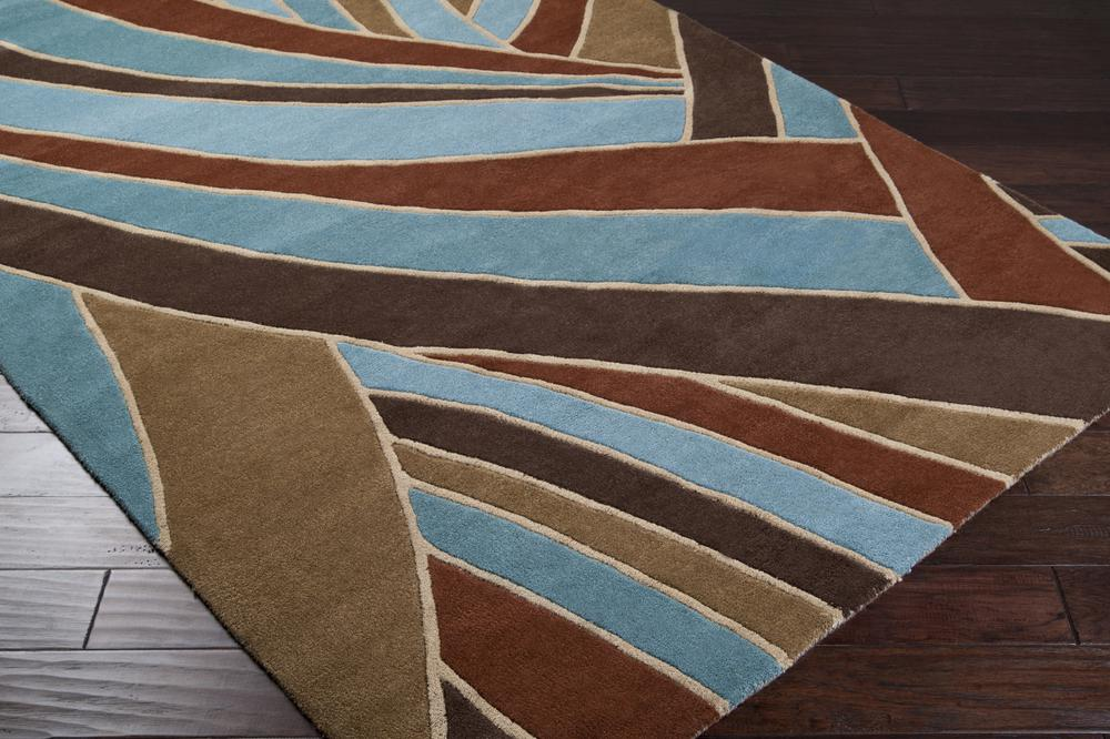 Surya Forum Fm7002 Brown Area Rug Free Shipping