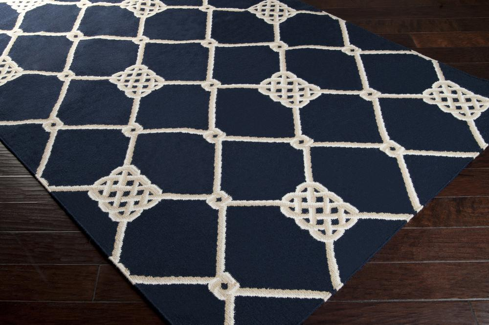 Surya Frontier Ft206 Blue Area Rug Free Shipping