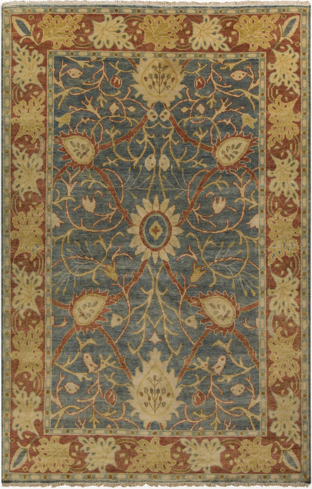 Surya Hillcrest Hil9016 Green Area Rug Free Shipping