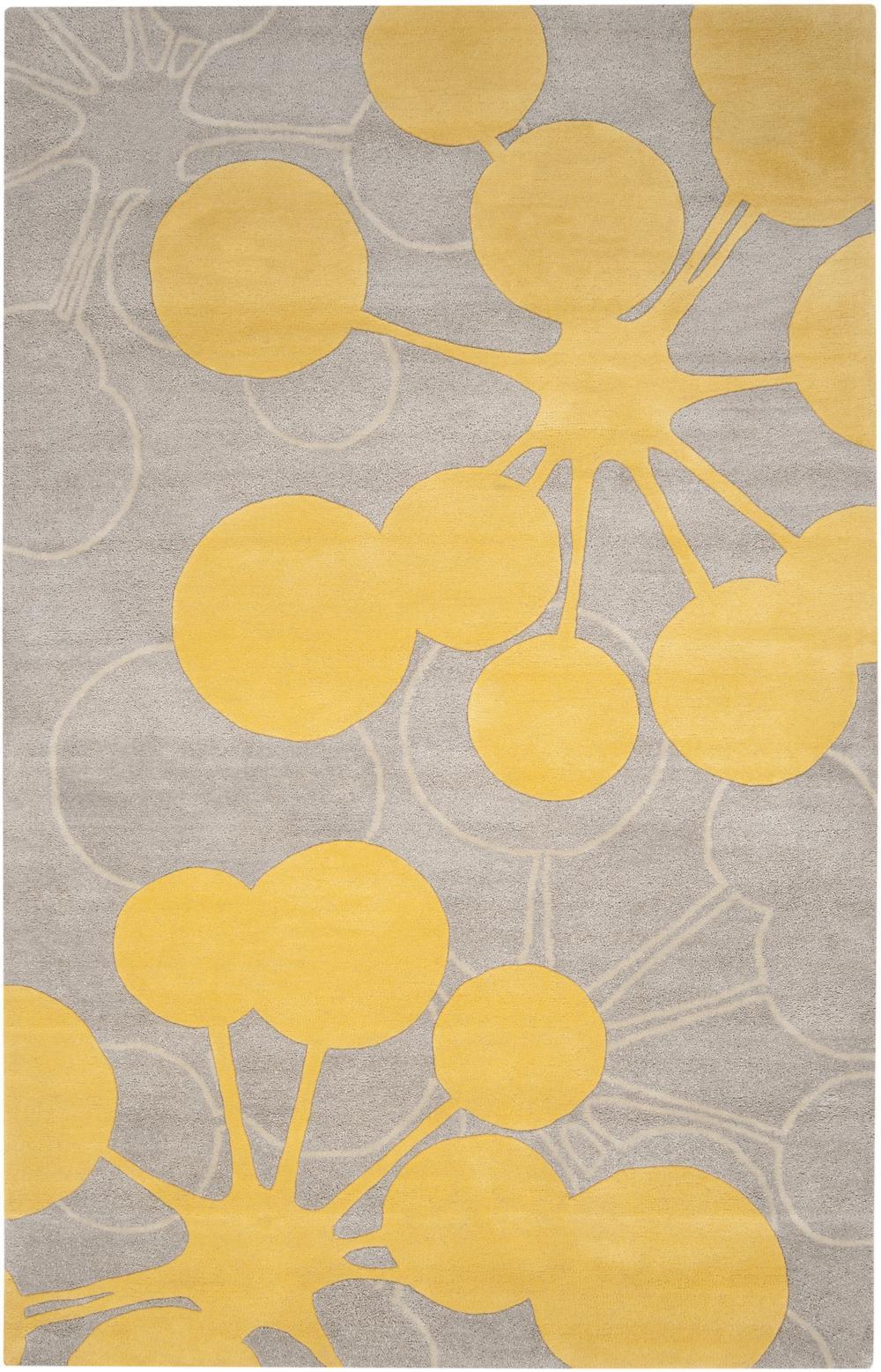 Yellow And Gray Area Rug Home Decor