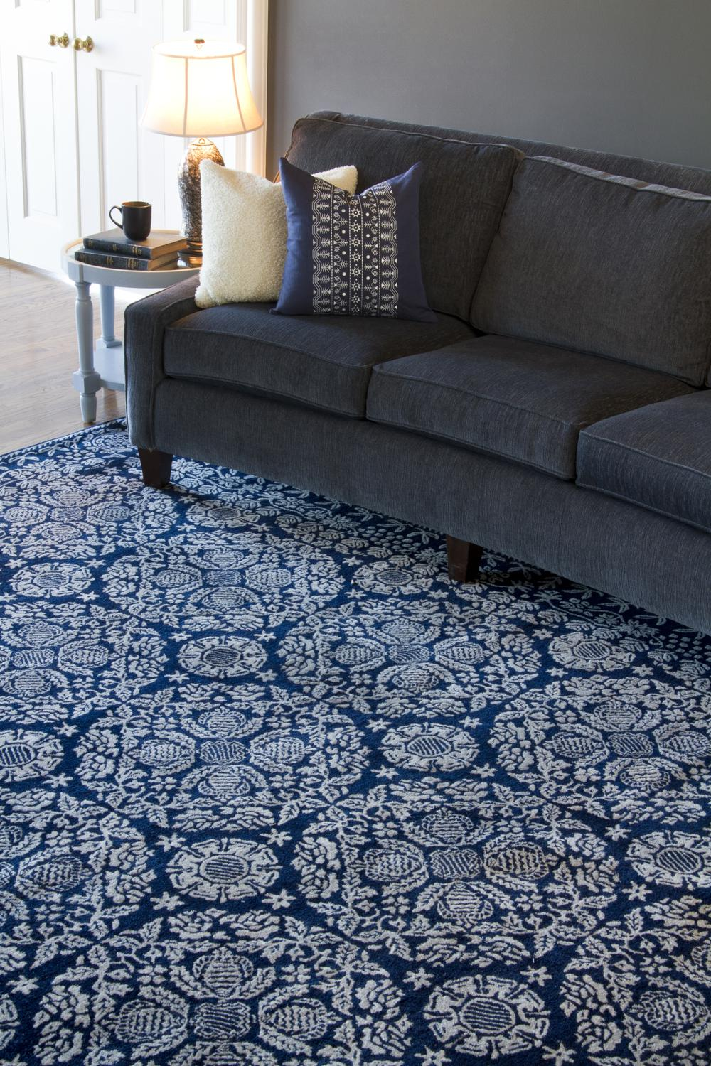 Surya Smithsonian Smi2112 Blue Area Rug Free Shipping