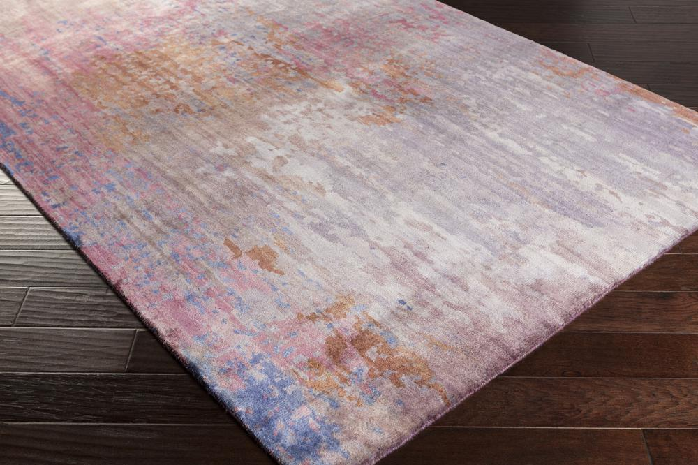 Surya Watercolor Wat5003 Purple Area Rug Free Shipping