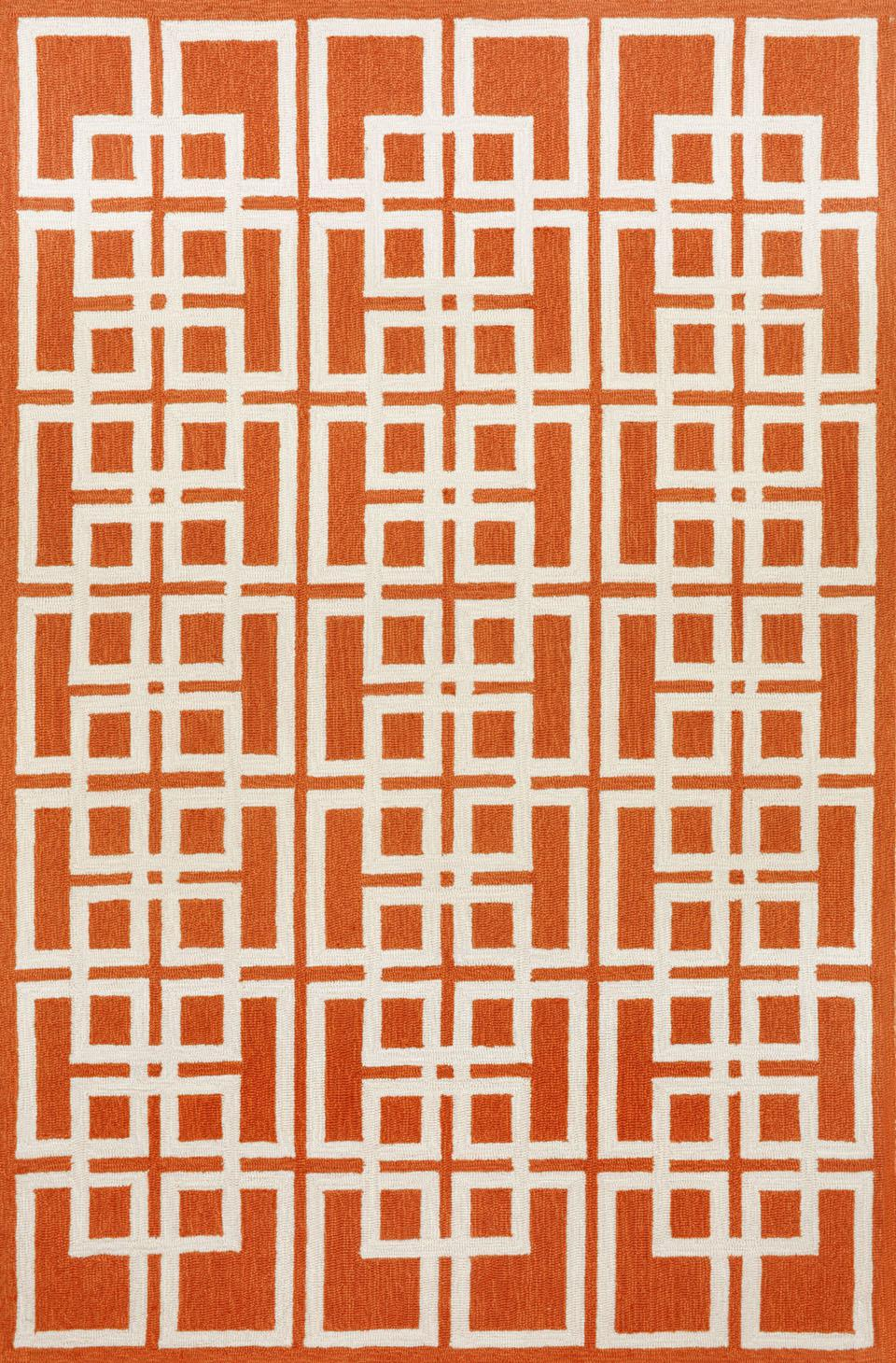 Trans Ocean Capri Oriental Square Orange 1609 17 Area Rug